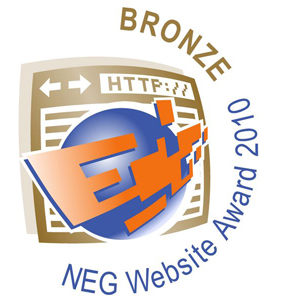 NEG Website Award 2010 Bronze