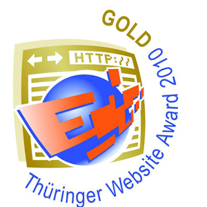 Thüringer Website Award 2010 Gold